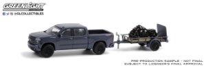1:64 2020 CHEVROLET SILVERADO  INDIAN SCOUTER BOBBER MOTORCYCLE