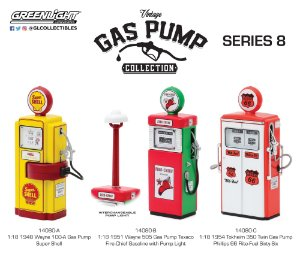1:18 VINTAGE GAS PUMP SERIES 8