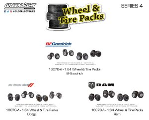 1:64 AUTO BODY SHOP WHEEL & TIRE PACKS SERIES 4
