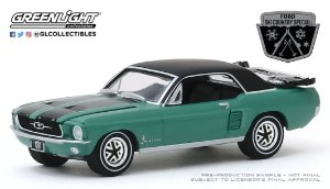 "1:64 1967 FORD MUSTANG COUPE ""SKI COUNTRY SPECIAL"" LOVELAND GREEN"