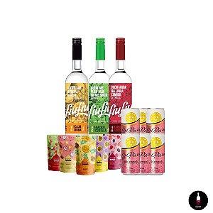 03 unidades Fiu-Fiu 750ml+05 sachês Easy Drinks 100g+6x270ml pink lemonade