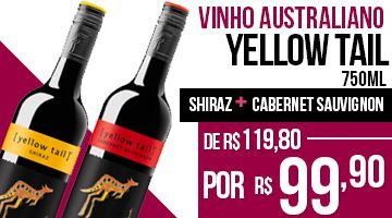 Vinho Yellow Tail Shyrah 750ml +  Cabernet Sauvignon 750ml