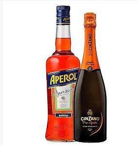 KIT  01 Aperol 750ml + 01 Espumante Cinzano Pro Spritz  750ml