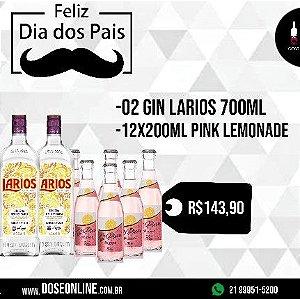 Kit Dia Dos Pais 02 Larios 700ML + 12 Pink Lemonade