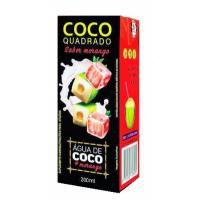 ÁGUA DE COCO COCO QUADRADO MORANGO 27X200ML