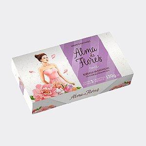 Estojo 3 Sabonetes Alma de Flores Baunilha 390g