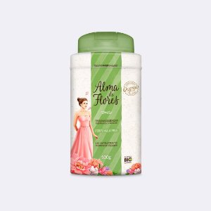 Talco Perfumado Alma de Flores Clássico 100g