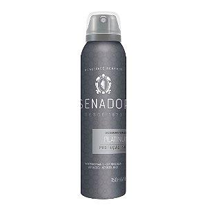 Desodorante Aerossol Senador Platinum 150ml