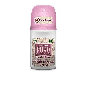 Desodorante Roll On Puro Sem Alumínio Hibisco