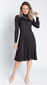 Vestido Feminino Talita Tricot - Preto