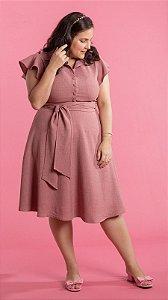 Vestido Feminino Cintia Plus Size Rosê