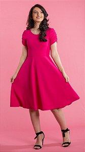 Vestido Feminino Godê Maria Pink