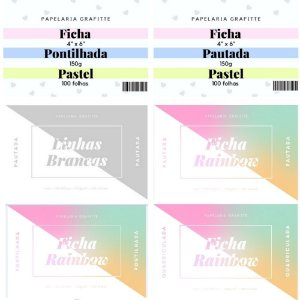 Kit Completo Fichas 4x6 100 unidades c/7