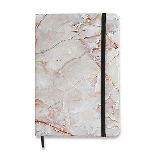Caderneta Cicero Minerais Pontado 14x21 Mármore Branco