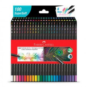 Lápis de Cor Supersoft 100 cores Faber-Castell