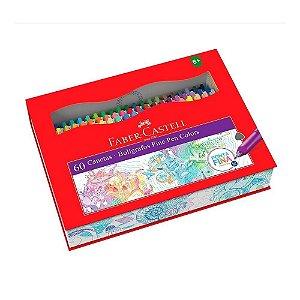 Estojo Caneta Fine Pen 60 cores Faber-Castell