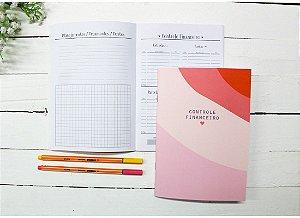 Caderno Controle Financeiro Vermelho e Rosa Papelote