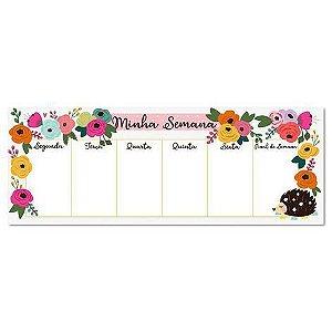 Bloco Planner Teclado Semanal Floral Me Encanta