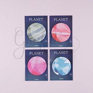 Bloco Adesivo Planet 30 folhas