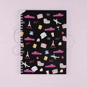 Caderno Espiral Flexível Pantera Cor de Rosa em Paris