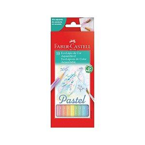 Lápis de cor Aquarelável Pastel 10 cores Faber-Castell