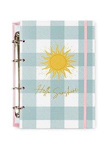 Caderno Argolado Colegial Azul Sunshine 100 folhas