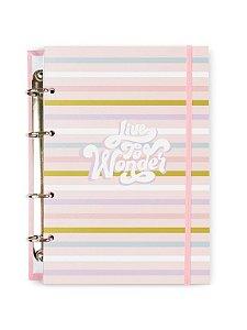 Caderno Argolado Colegial Line Color 100 folhas