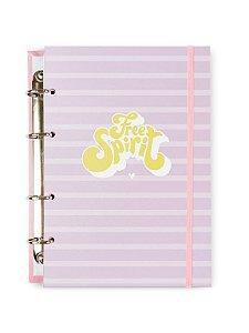 Caderno Argolado Colegial Spirit Lilac 100 folhas