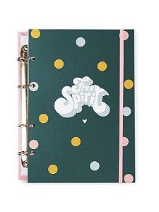 Caderno Argolado Colegial Spirit Marinho 100 folhas