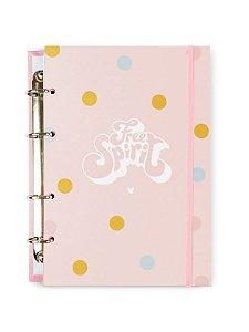 Caderno Argolado Colegial Spirit Rosa 100 folhas