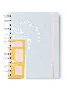 Caderno Espiral A5 Liso 90g Be Kind Azul 100 folhas