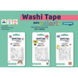 Washi Tape Colorir 50mmx5m LEOARTE