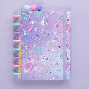 Caderno de disco capa dura A5 Espaço