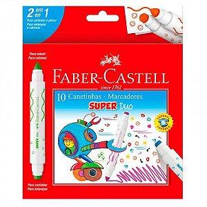 Hidrocor 2 Pontas Super Duo 10 cores Faber-Castell
