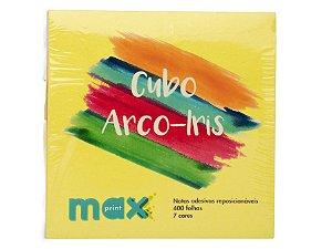 Bloco Adesivo Cubo Arco Iris Maxprint 400 folhas