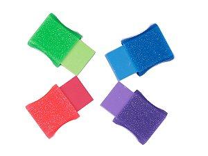 Borracha Capa Plástica Glitter Faber-Castell Avulsa
