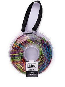 Clips Colorido 28mm Donut Tilibra 200 unidades