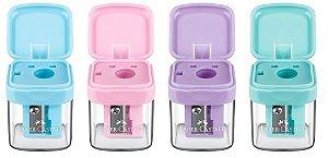 Apontador Com Depósito Minibox Cor Pastel Faber-Castell