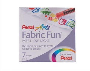 Giz Pastel Seco Para Tecido Pentel com 7 cores