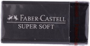 Borracha Dust Free Preta Super Soft Faber-Castell