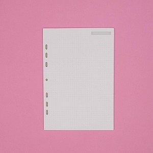 Refil Caderno Argolado Ultra Pontilhado 90G Ótima Gráfica 30 folhas