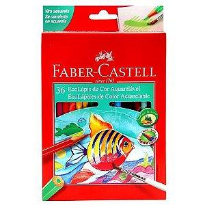 Lápis de Cor Faber-Castell Aquarelável 36 Cores