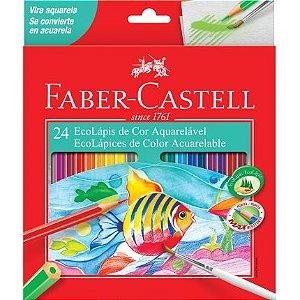 Lápis de Cor Faber-Castell Aquarelável 24 Cores