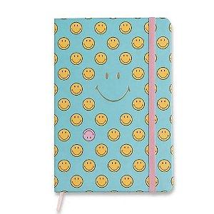 Caderneta Cicero Smiley Azul Pontado 14x21