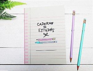 Caderno Flex Mini Estudos 40 folhas 14x20cm