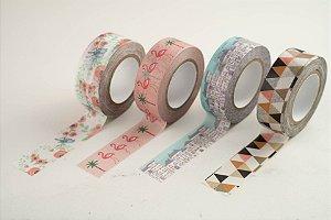 Fita Adesiva Washi Tape Estampada 15mmx10m