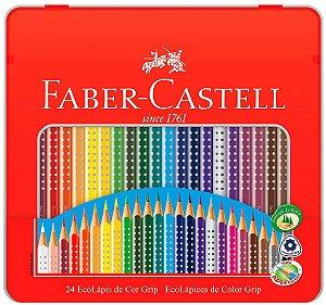 Lápis de Cor Faber-Castell Grip 24 Cores