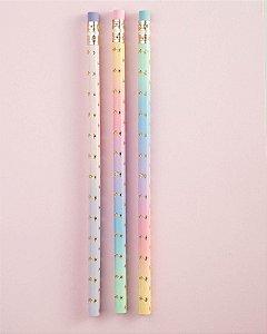 Lápis Preto HB CIS Rainbow c/ 3un