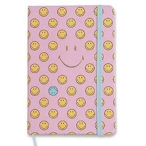 Caderneta Smiley Rosa Pontilhada 14x21 Cicero