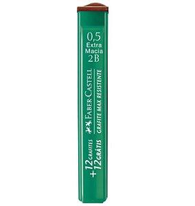 Grafite Faber Castell 0,5 2B - tubo c/ 24 unidades